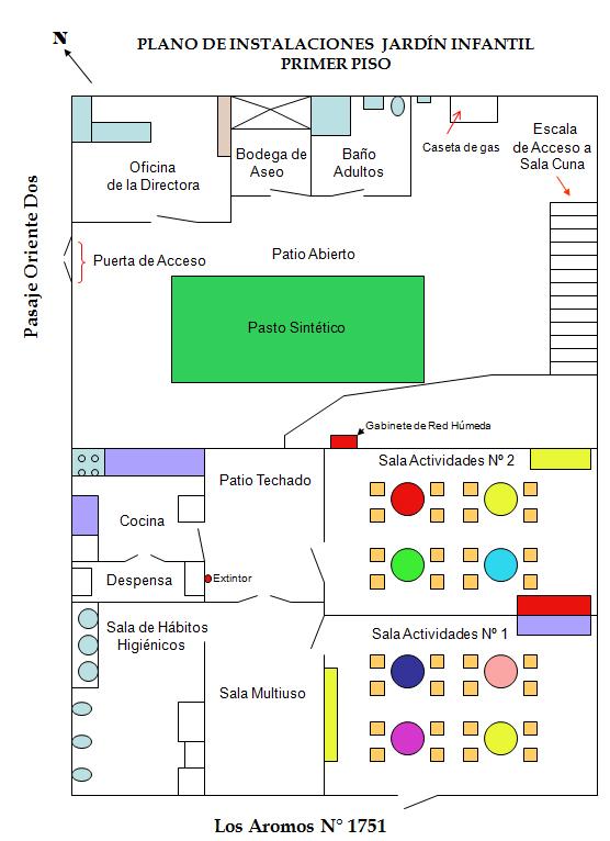 Plano Instalaciones Jardín Infantil