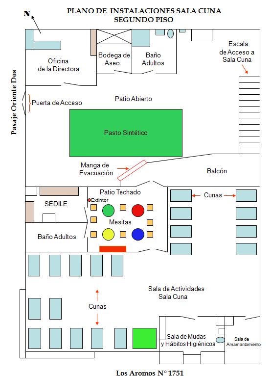 Plano Instalaciones Sala Cuna
